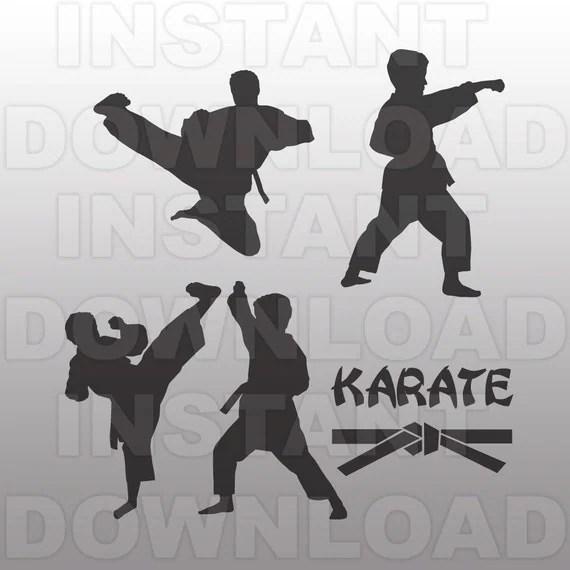 boys karate svg file martial arts