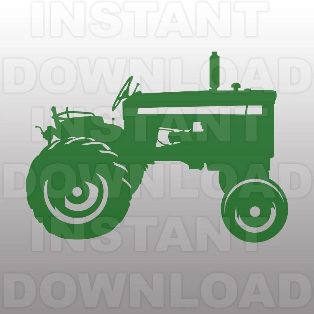 Vintage Farm Tractor Svg File Cutting Templatevector Clip Art