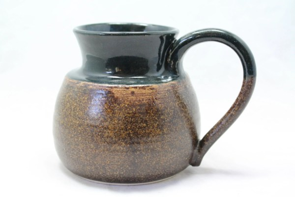 22 Oz Mug Ceramic With Wide Base And Roomy Handle Gold