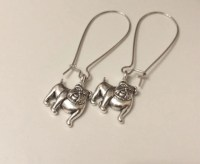 English Bulldog Charm Dangle Earrings bulldog lovers bulldog
