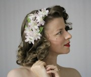 1940s hair accessories- flowers