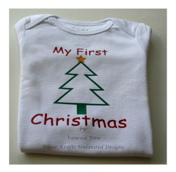 My First Christmas Onesie Personalized 1st by