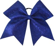 royal blue glitter cheer bow cheerleading