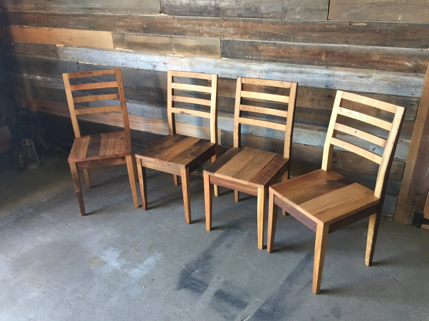 barnwood dining room chairs chair covers hire sunshine coast reclaimed barn wood with tapered legs