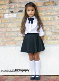 Items similar to Black girls bow tie, Girls bow tie ...