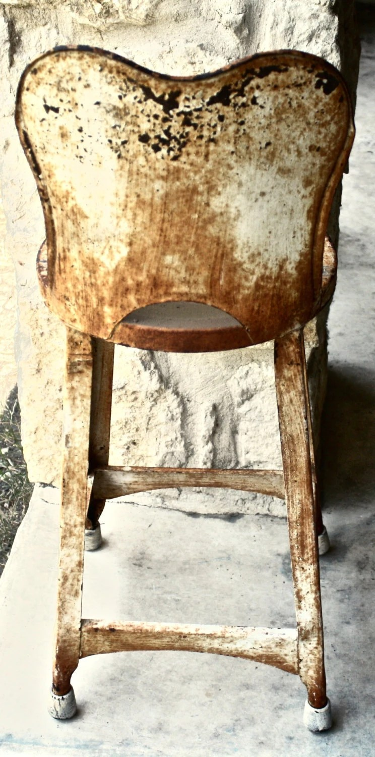 chair box stand foam flip bed vintage metal high back stool child's by yesterdazetoday