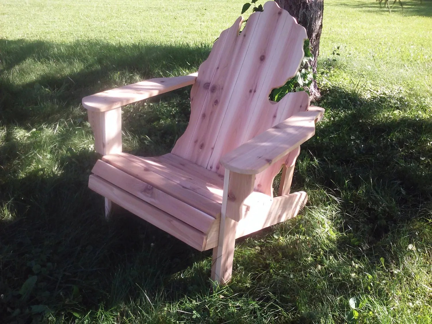adirondack chair kit best big and tall leather office rough michigan handmade wood