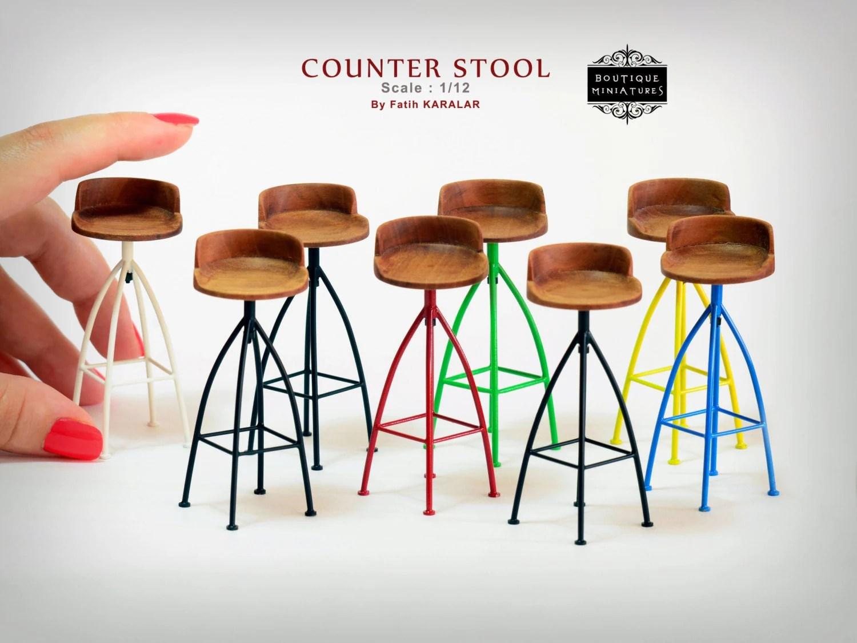 revolving chair bar stool wheelchair agent miniature counter wooden rotating