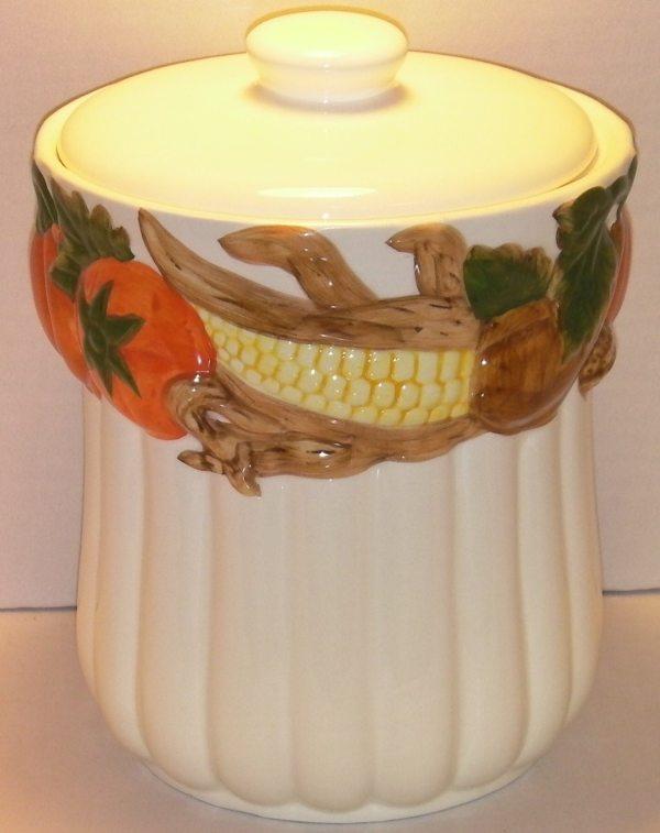 White Pumpkin Cookie Jar