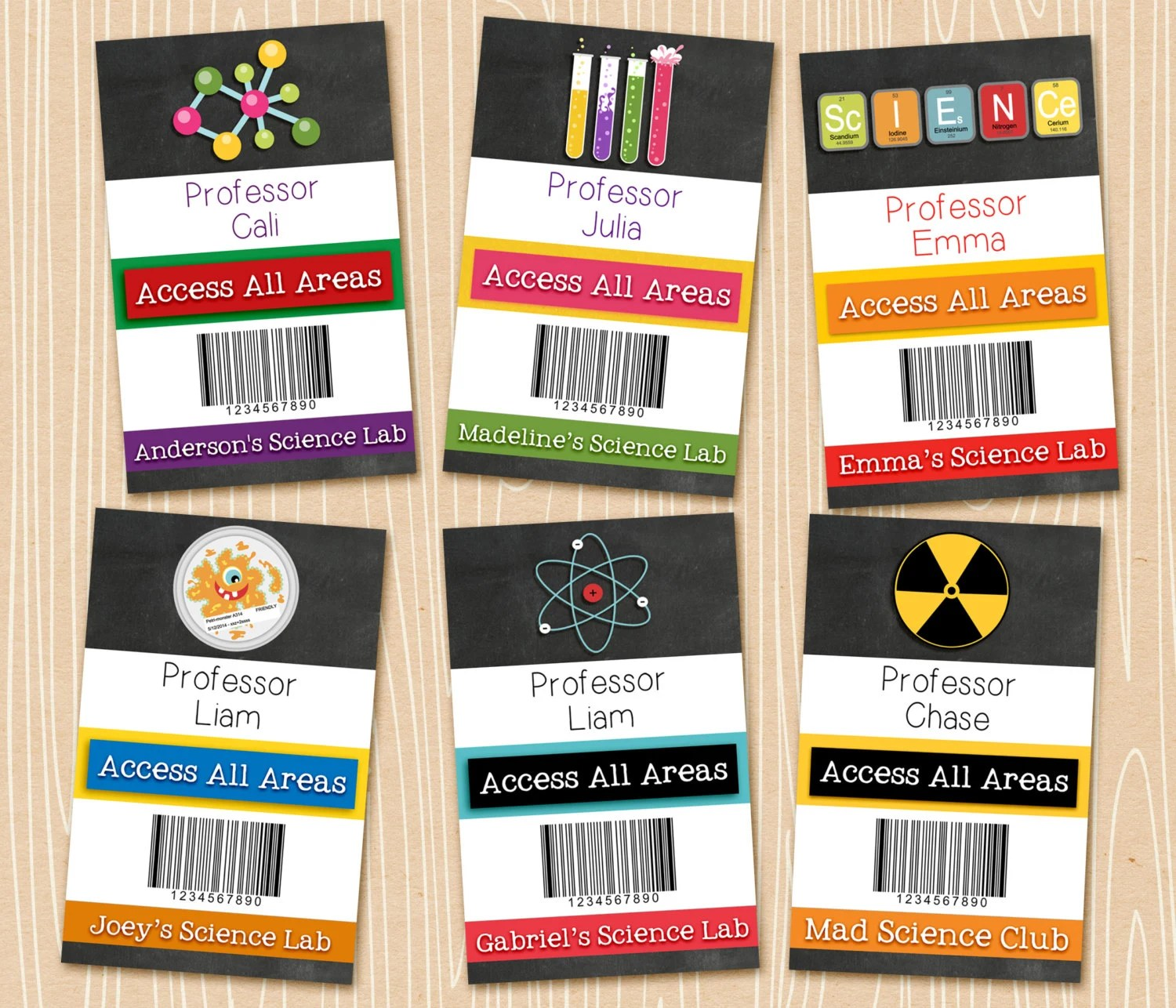 Science Badges Personalized Science Party Badges Printable