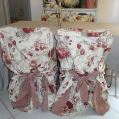 Chair Covers And More Norfolk Stool Protector Vintage French Country Waverly Rose Slipcovers