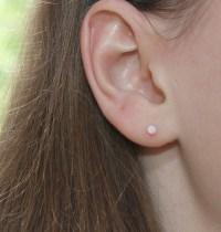 3mm Opal Stud Earrings Gold White Opal earring studs 20