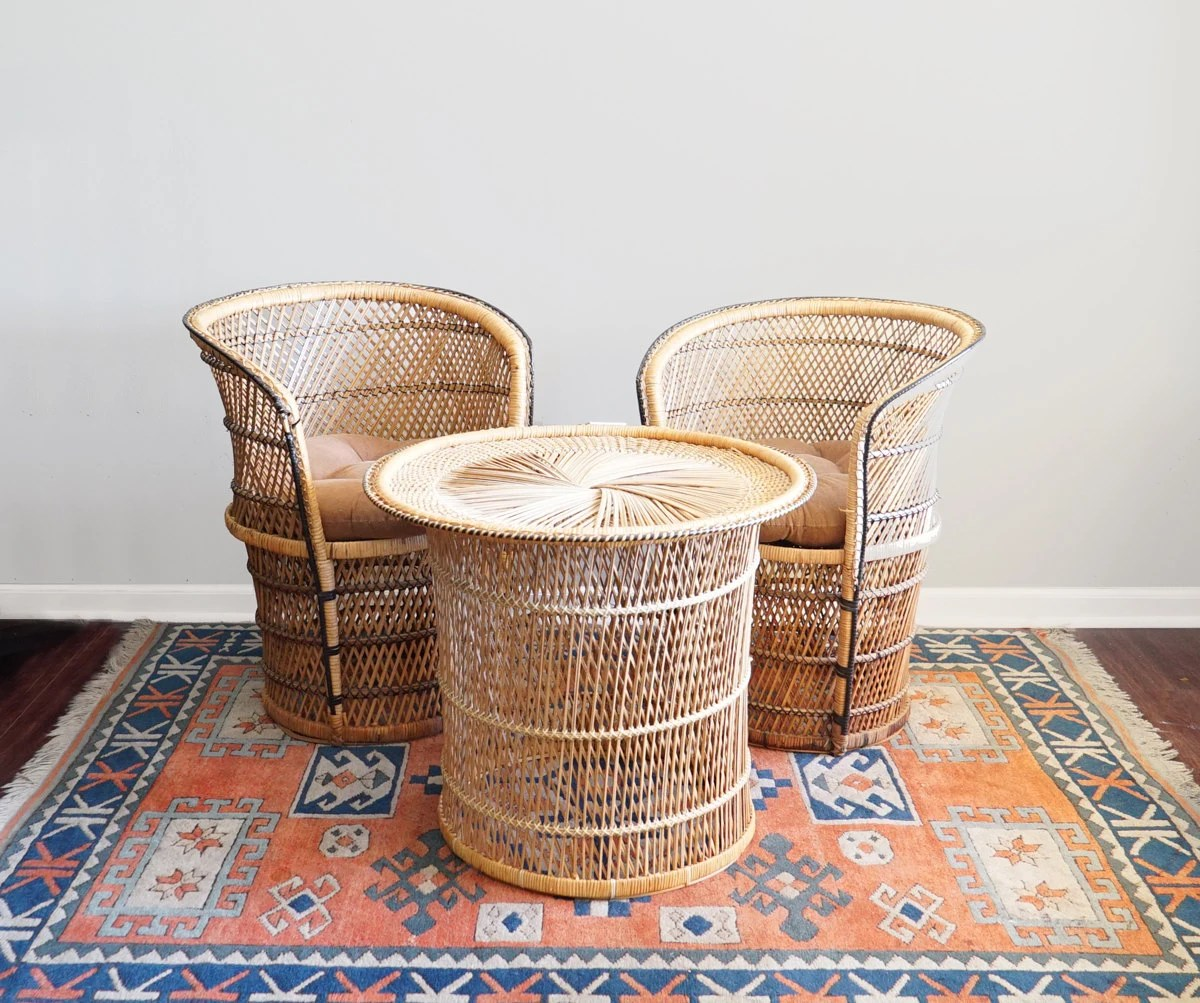 Vintage Rattan Chairs Vintage Wicker Patio Furniture Outdoor Rattan Lawn Furniture