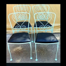 Wrought Iron Chairs 4 Patio Antique Chair