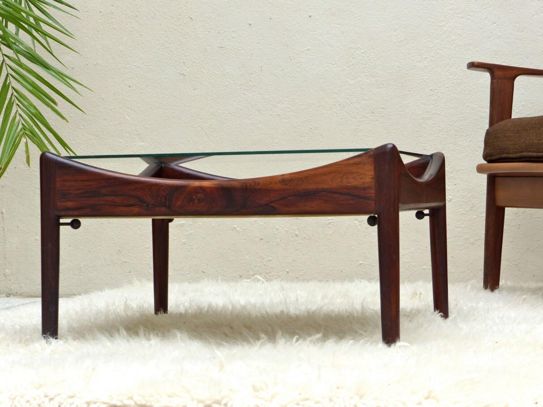Table basse scandinave vintage en palissandre de rio mid for Table haute scandinave