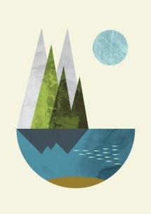 Abstract Art Geometric Nordic Design Print Flatowl