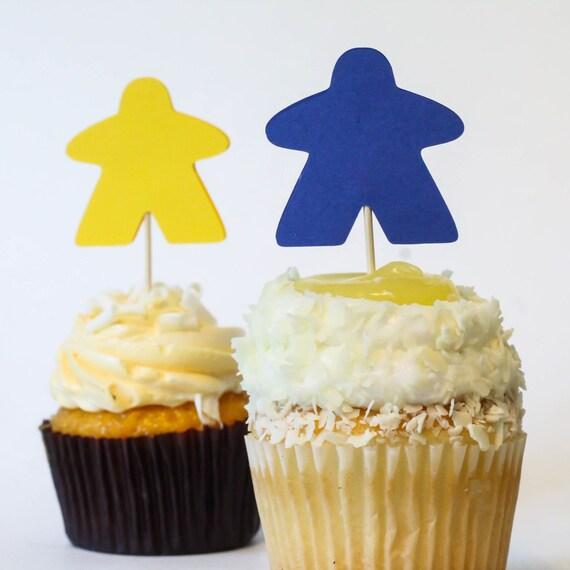 meeple cupcakes