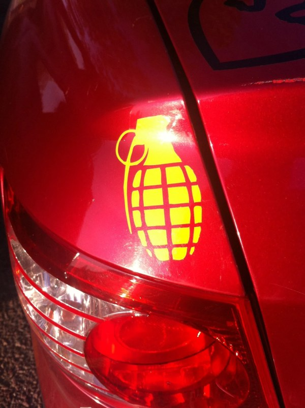 2 X Grenade Decal Bumper Window Decoration Jdm