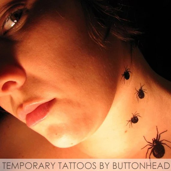 spider temporary tattoo halloween