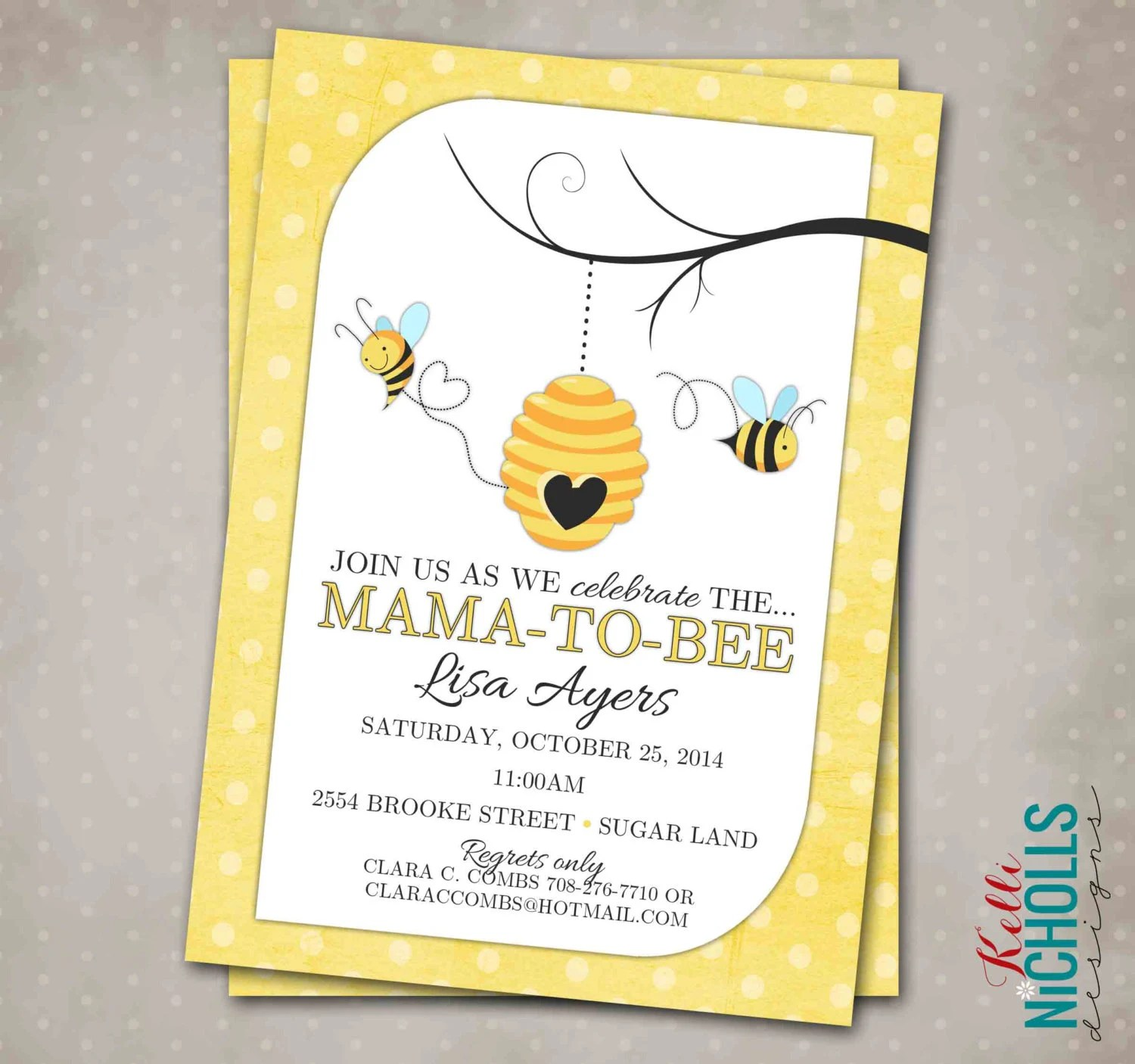 Bumble Bee Baby Shower Invitation Custom By