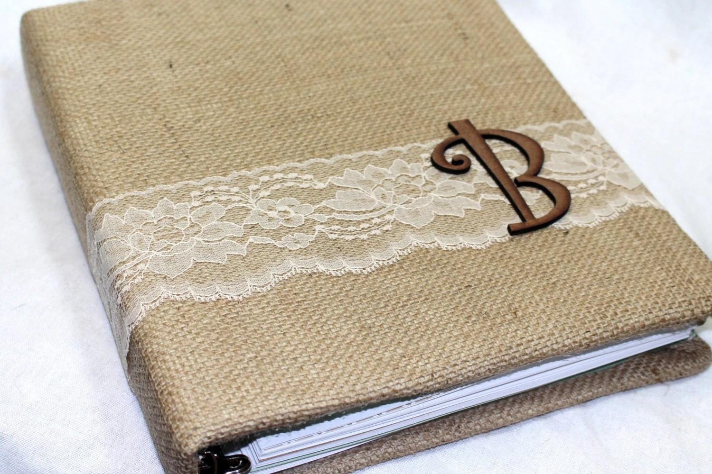 Wedding MEMORY Book / Rustic Wedding Album / Burlap And Lace