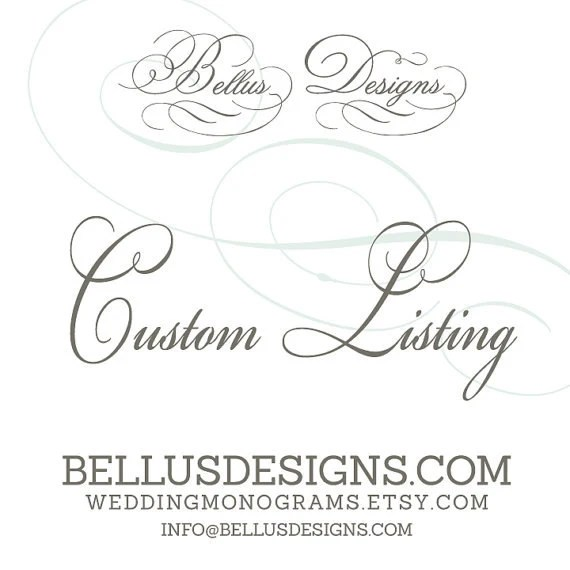 1 additional Custom Calligraphy Style Wedding Place Card for
