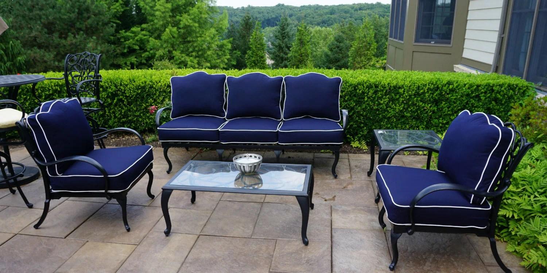 Custom Outdoor Sunbrella Cushion Covers Chair Pad Outdoor