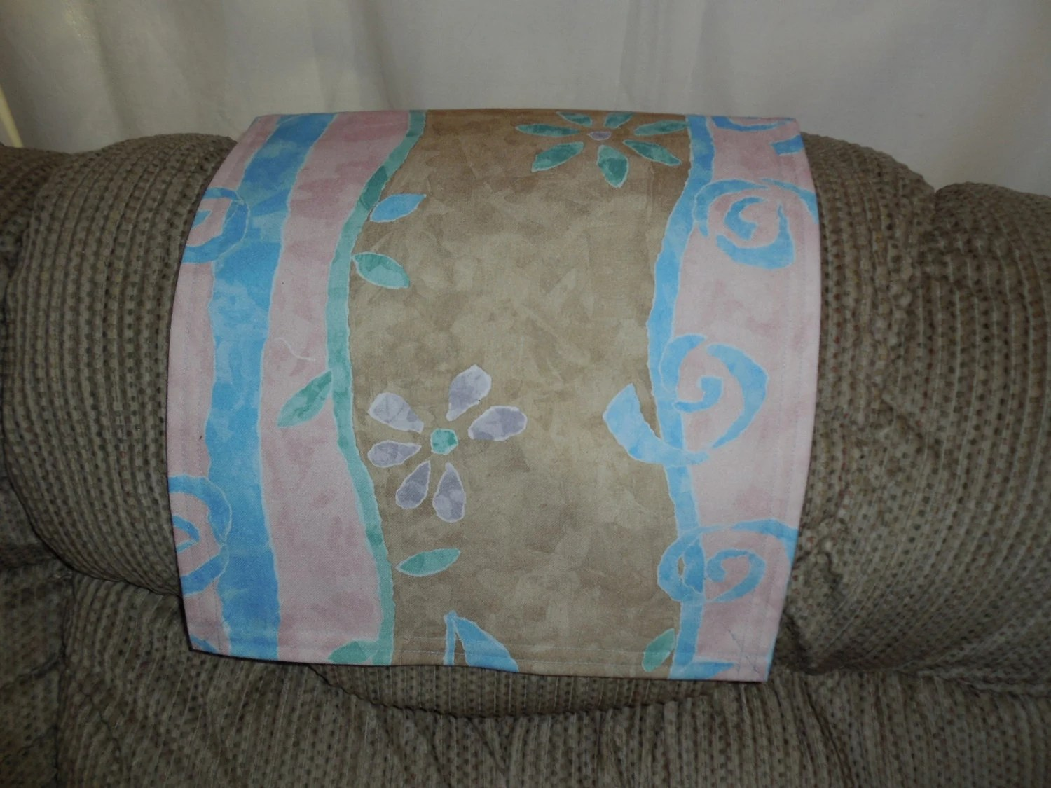 chair headrest cover pedicure chairs no plumbing needed pad recliner furniture by stitchnart