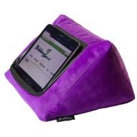 iPad Cushion Pillow Stand Holder. iCushion Velvet Purple