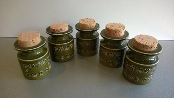 Vintage Spice Jars Portmeirion Totem Pottery Herb Herbs
