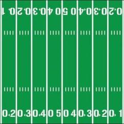 Football Field Diagram Printable Pi Controller Block Yardline Numbers Room Decal Removable Vinyl