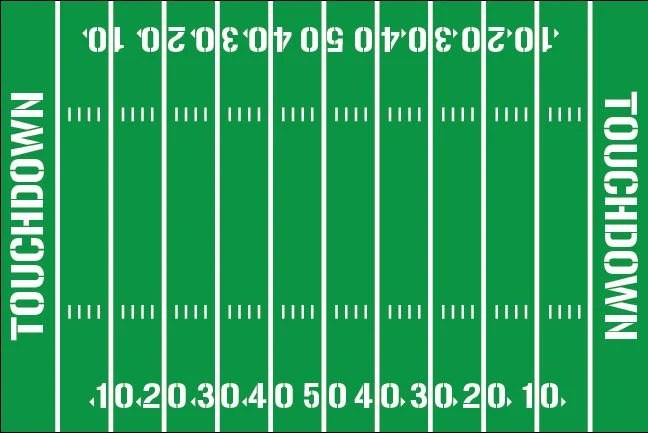 football field diagram printable 12a electronic distributor wiring yardline numbers room decal removable vinyl