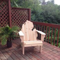 Michigan Adirondack Chair Cheap Porch Chairs Kit Natural Handmade Wood
