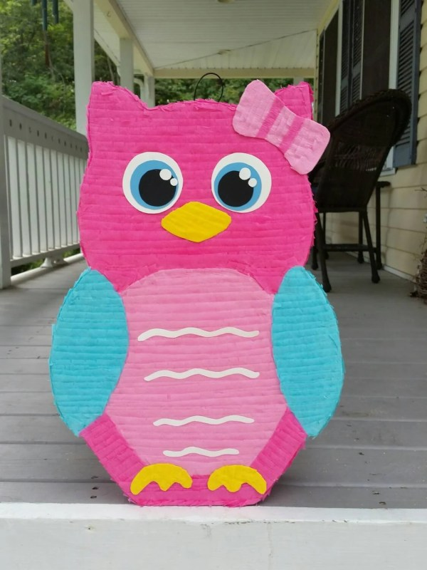 Owl Pinata Birthday Party Baby