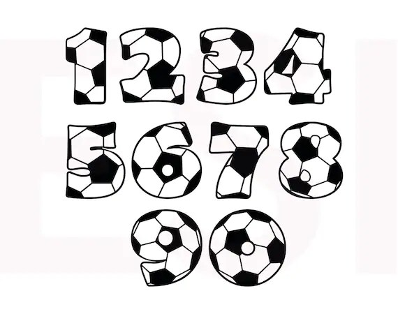 Soccer SVG, DXF, EPS, cutting files for use in Silhouette