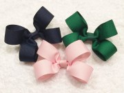 girls hair bows pink bow green