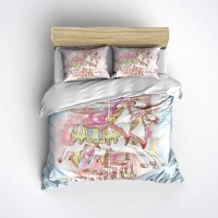 Vintage Style Carousel Merry go Round Comforter by InkandRags