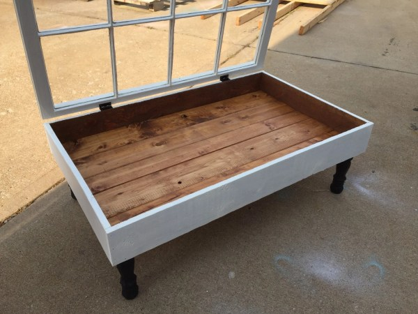 Window Shadow Box Coffee Table Rustic