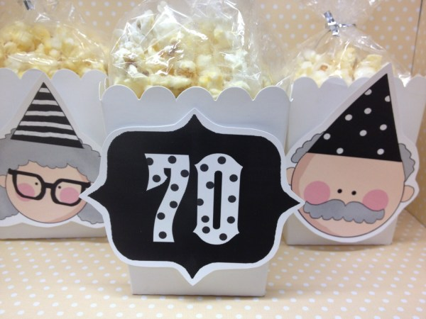 40th 50th 60th 70th Birthday Party Popcorn Favors Boxes