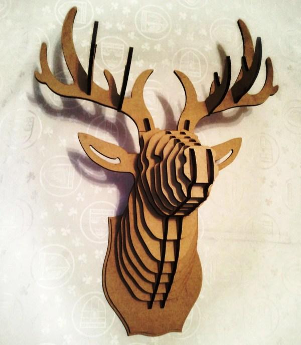 3D Cardboard Deer Head