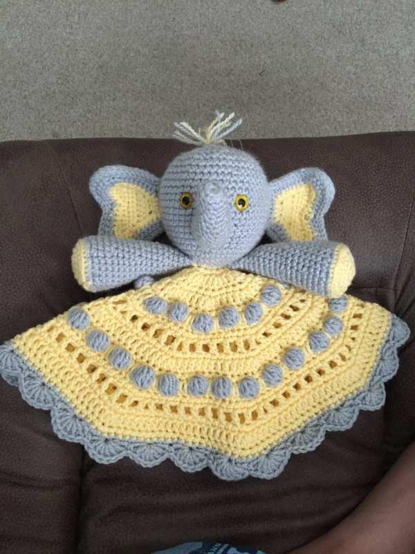 Security Blanket Crochet Josefina And Jeffery Elephant