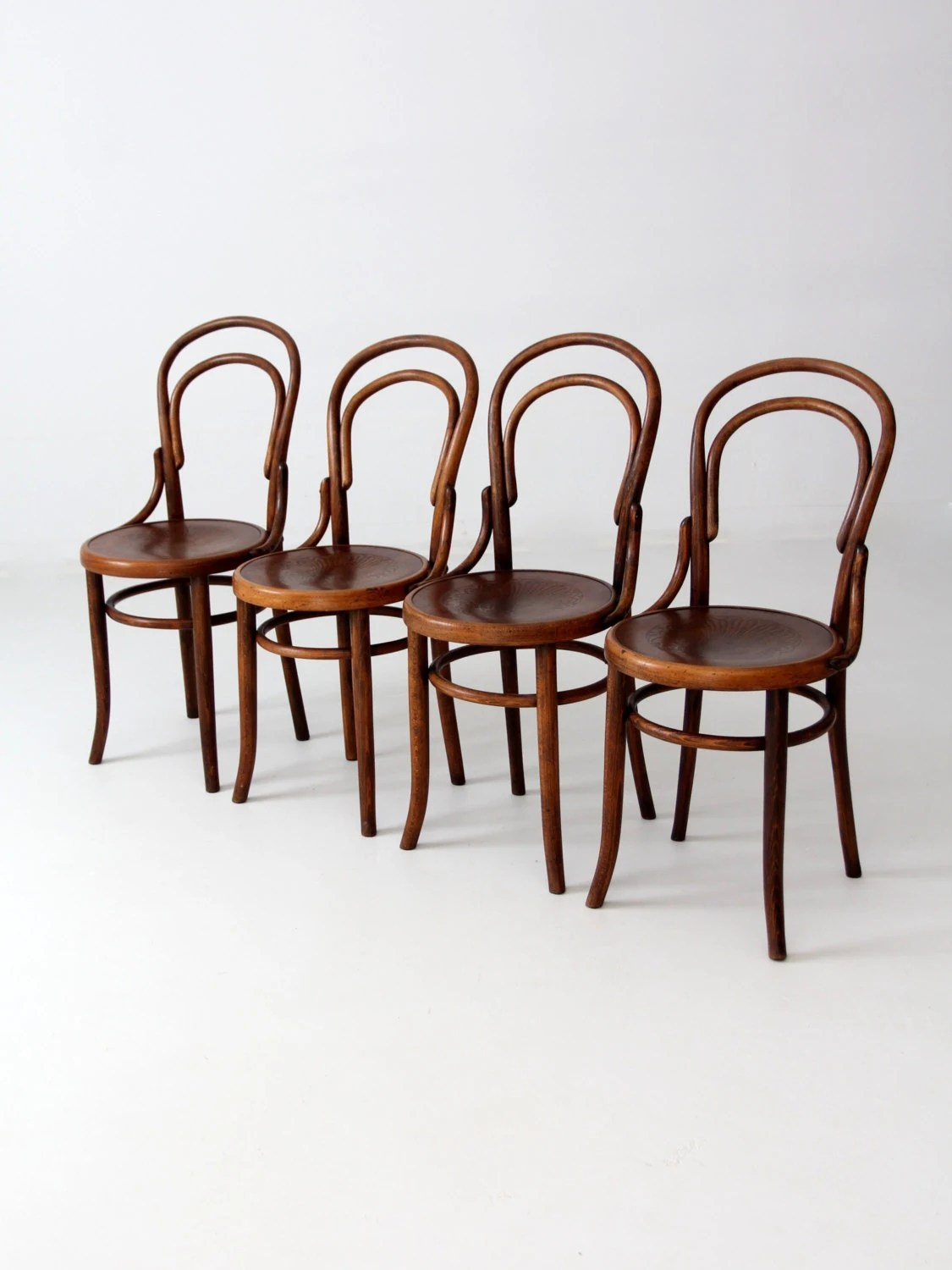 Bent Wood Chairs Antique Fischel Bentwood Chair Set Of 4