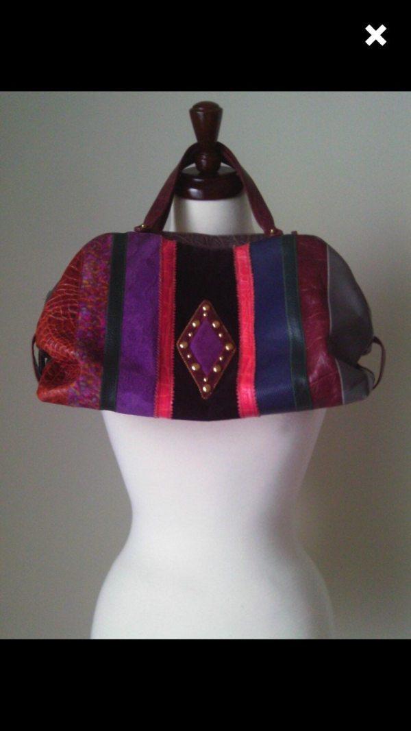 Sharif Studio Exotics Multi Colored Leather Handbag