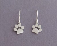 Dangle Paw Print Earrings Sterling Silver Cats and Dogs Paws