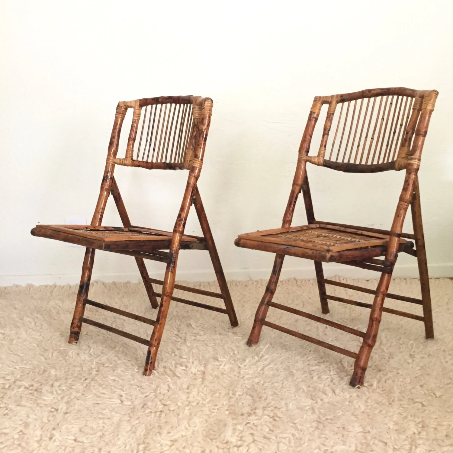 folding japanese chair accent modern bamboo rattan chairs set of 2 rustic boho