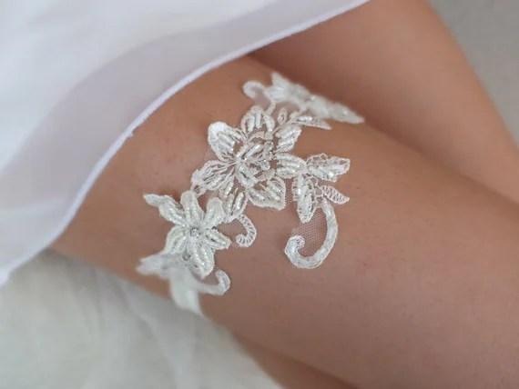 Items Similar To Unique Cream Wedding Garter Lace Garter