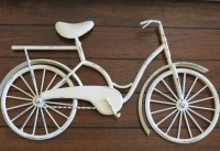 Bike Wall Decor / Creamy White or Pick Color / Bicycle Metal