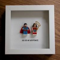 Superman Wall Art Wonder Woman Wall Art LEGO Art