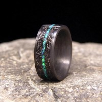 Unique Handmade Artisan Quality Wood Inlay Rings by ...