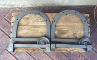 Set of 2 Antique Barn Door Rollers